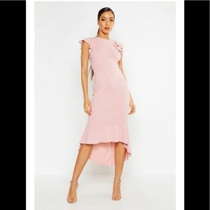 Boohoo Frill Fish Tail Dress